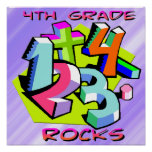 4th Grade Rocks - Numbers Poster
