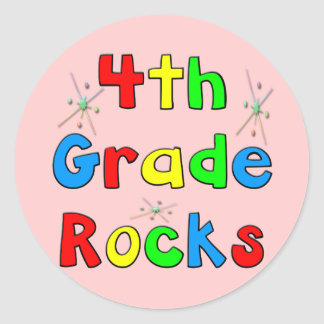 4th Grade Rocks Stickers