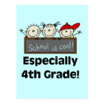4th Grade School is Cool Tshirts and Gifts Postcard