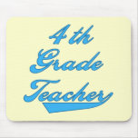 4th Grade Teacher Blue Tshirts and Gifts Mouse Pads