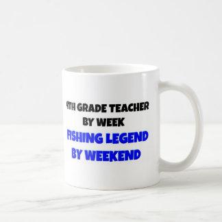 4th Grade Teacher Fishing Legend Mug