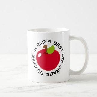 4th Grade Teacher Gift (Worlds Best) Coffee Mugs