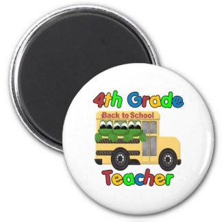 4th Grade Teacher 2 Inch Round Magnet