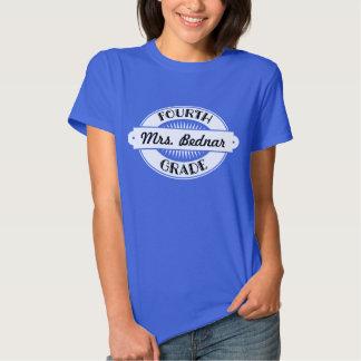 4th Grade Teacher personalized School T Shirt