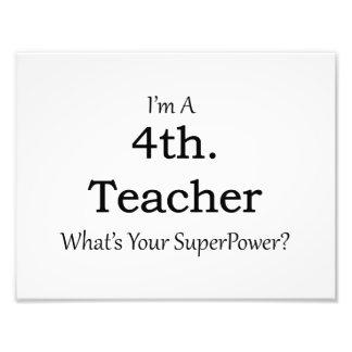 4th. Grade Teacher Photo Print