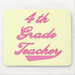 4th Grade Teacher Pink Tshirts and Gifts Mouse Pad