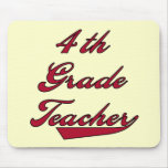 4th Grade Teacher Red Tshirts and GIfts Mouse Pads
