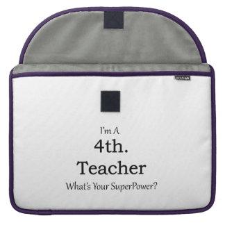 4th. Grade Teacher Sleeve For MacBooks