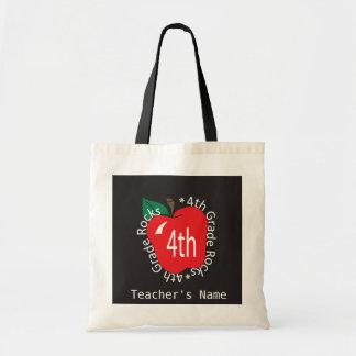 4th Grade Teachers Rock | DIY Name Budget Tote Bag