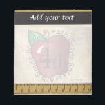"4th Grade Teacher&#39;s Vintage Style Notepad<br><div class=""desc"">Notepad. 100% Customizable. Ready to Fill in the box(es) or Click on the CUSTOMIZE IT button to change, move, delete or add any of the text or graphics. Made with high resolution vector graphics for a professional print. NOTE: (All zazzle product designs are &quot;prints&quot; unless otherwise stated) If you have...</div>"
