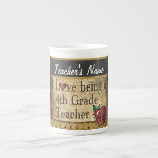 4th Grade Teacher's Vintage Unique Style Tea Cup