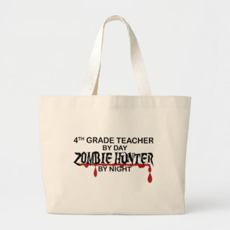 4th Grade Zombie Hunter Night Canvas Bag