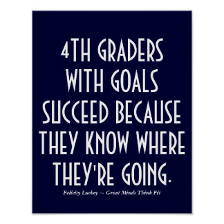4th Graders with Goals Poster
