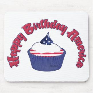 4th Happy Birthday Cupcake Mouse Pad