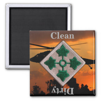 4th ID infantry division vietnam iraq war vets Magnet