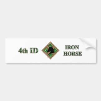4th ID Iron Horse Car Bumper Sticker