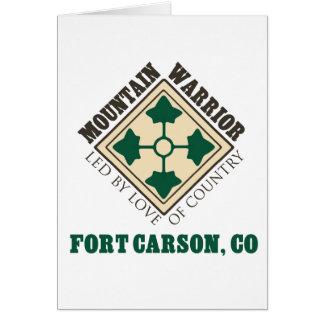 4th ID Mountain Warrior Fort Carson Card