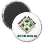 4th ID Mountain Warrior Fort Carson Fridge Magnet
