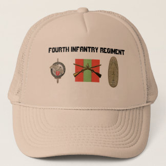 4th INF 56th FA Pershing Pro French Commando Trucker Hat