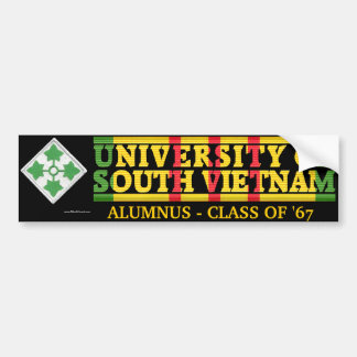 4th Inf. Div. - U of South Vietnam Alumnus Sticker