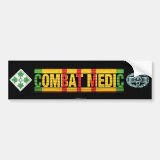 4th Inf. Div. Vietnam COMBAT MEDIC Sticker Car Bumper Sticker