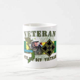 4th Inf Div-Vietnam (w/CIB) Classic White Coffee Mug