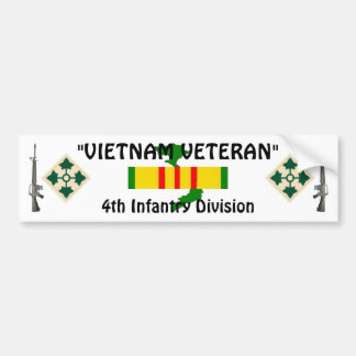 4th Inf Division bumper sticker