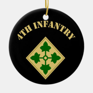 4th Infantry Division Ceramic Ornament