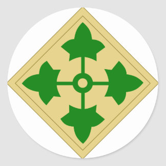 4th Infantry Division Classic Round Sticker