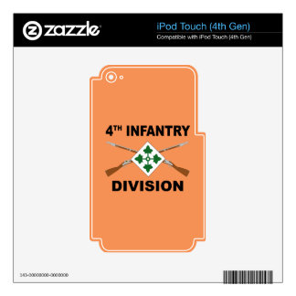 4th Infantry Division - Crossed Rifles - With Text iPod Touch 4G Decal