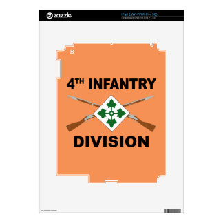 4th Infantry Division - Crossed Rifles - With Text Skin For iPad 2