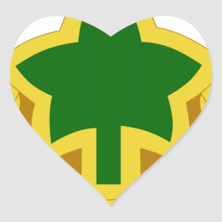 4th Infantry Division Heart Sticker