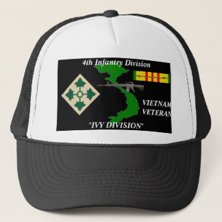 """4th Infantry Division"""" Ivy Division"""" Ball Caps"""