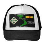 "4th Infantry Division"" Ivy Division"" Ball Caps Mesh Hats"