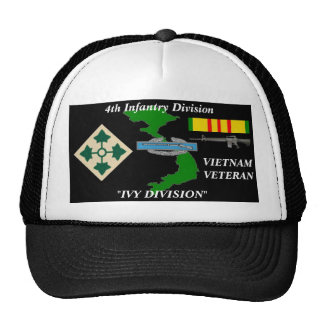 """4th Infantry Division""""IVY DIVISION"""" Ball Caps Trucker Hat"""