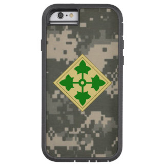 """4th Infantry Division """"Ivy Division""""  Digital Camo Tough Xtreme iPhone 6 Case"""