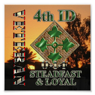 4th Infantry Division OIF Veteran Poster