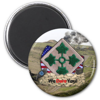 4th infantry division patch iraq war vets Magnet