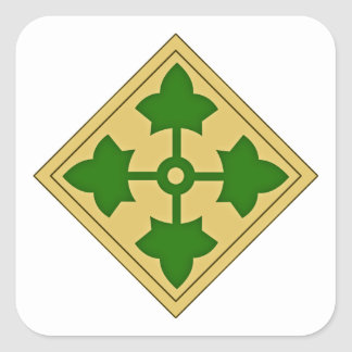 4th Infantry Division Square Sticker