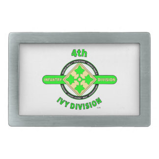"4TH INFANTRY DIVISION ""THE IVY DIVISION"" BELT BUCKLE"