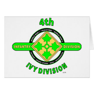 """4TH INFANTRY DIVISION """"THE IVY DIVISION"""" CARD"""