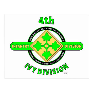 """4TH INFANTRY DIVISION """"THE IVY DIVISION"""" POSTCARD"""