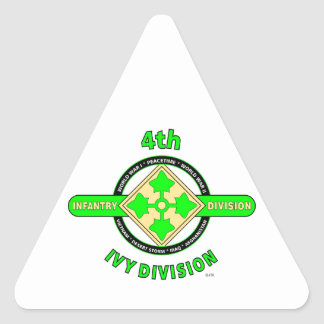 """4TH INFANTRY DIVISION """"THE IVY DIVISION"""" TRIANGLE STICKER"""