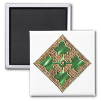 4th Infantry Division V2 2 Inch Square Magnet