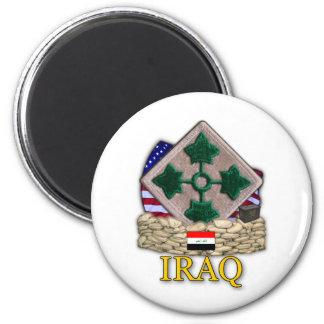 4th infantry division vietnam iraq war vets Magnet
