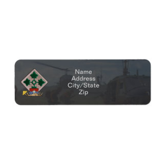 4th infantry division vietnam nam war patch custom return address labels