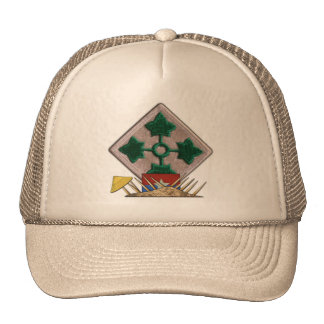 4th infantry division vietnam nam war vets patch trucker hat