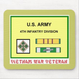 4TH INFANTRY DIVISION VIETNAM WAR VET MOUSE PAD