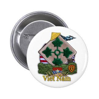 4th infantry division vietnam war vets Button