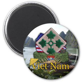 4th infantry division vietnam war vets Magnet